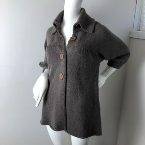 Vince Brown knit Cardigan large buttons Medium